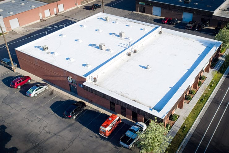 White TPO Roof in Downtown Salt Lake City