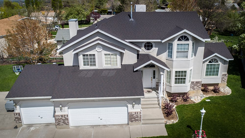 GAF architectural shingle, residential roof.