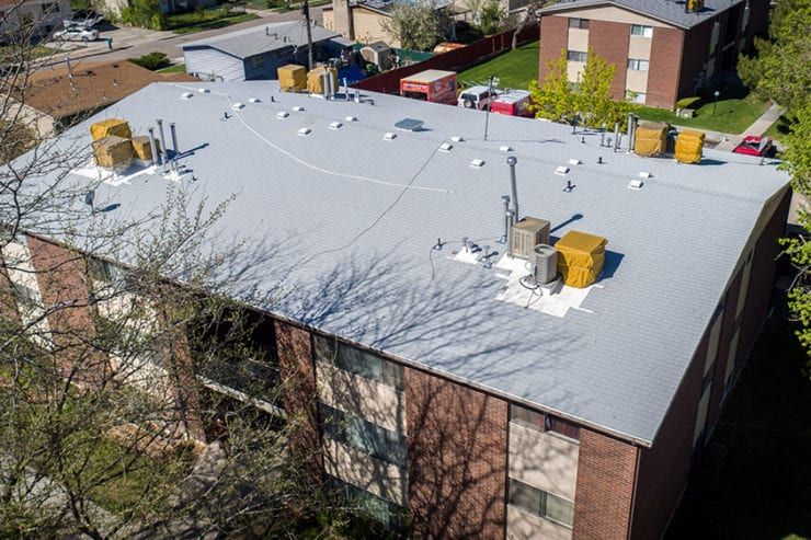 Commercial Apartment Roofing Bid and Jobsite